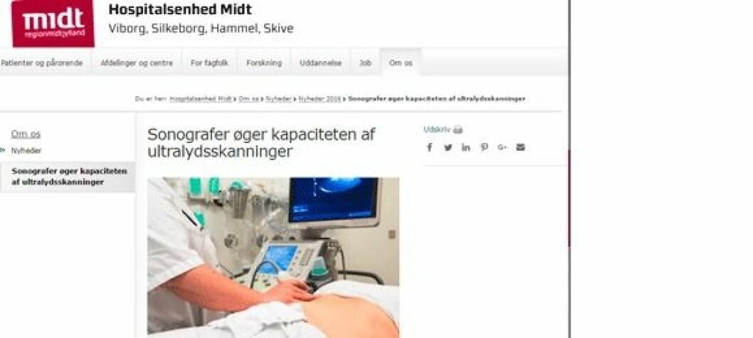 Faksimile fra hospitalsenhedmidt.dk.