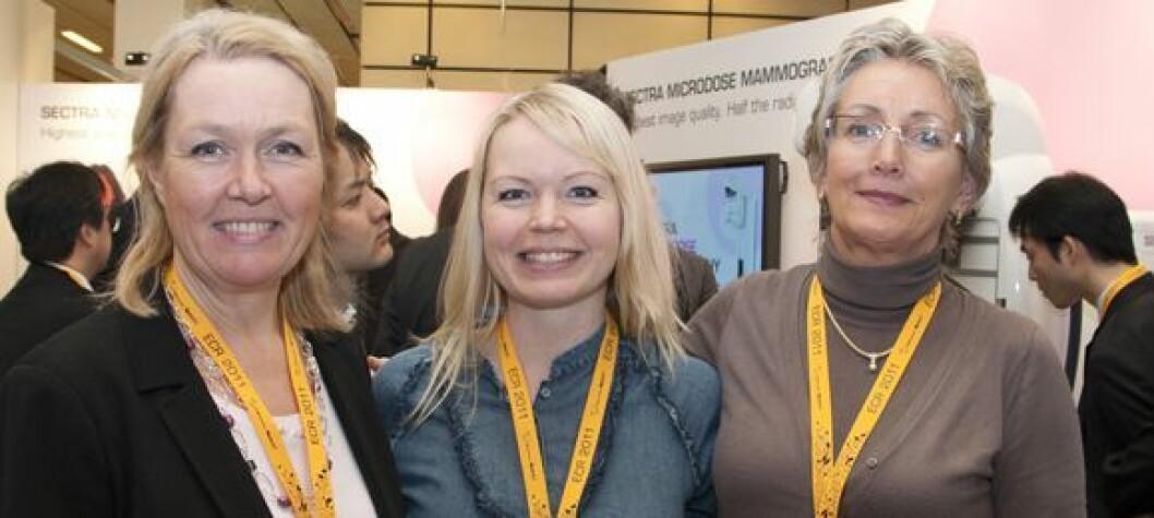 Randi Gullien (t.v.), Eline Rostad og Anne Emilie Haakull. Foto: Tone Stidahl