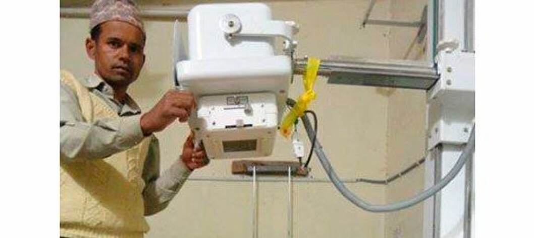 Her er røntgenapparatet det ble samlet inn til først. I runde to fikk sykehuset nytt UL-apparat. Nå håper ekteparet Widmark de snart er i mål med innsamling til ny blodanalysemaskin.