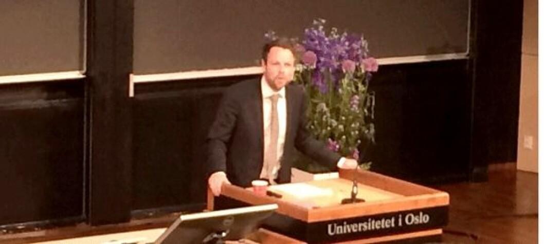 Kunnskapsminister Torbjørn Røe Isaksen. Foto: Håkon Hjemly