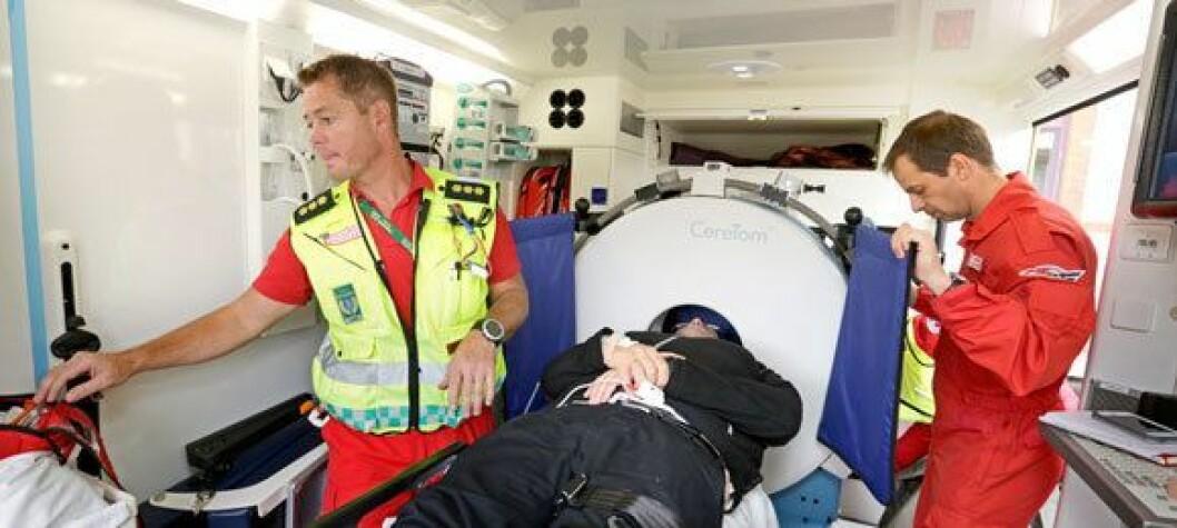 Slagambulansen burde hatt med en radiograf til å håndtere CT-en, mener Norsk Radiografforbund. Foto: Fredrik Neumann