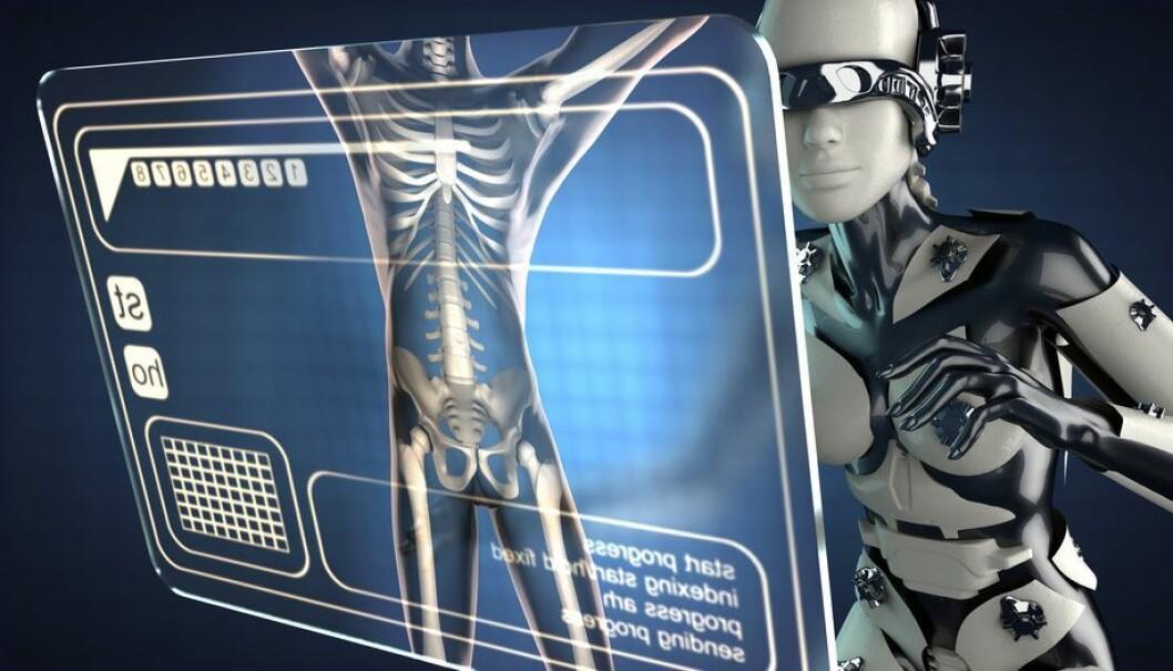 Her har vi en science fiction-versjon av en røntgenrobot, mens automatisering i røntgen foreløpig mest handler om digitale prosesser. Likevel: Den teknologiske utviklingen gjør nok at arbeidshverdagen på en røntgenavdeling kommer nok til å se ganske annerledes ut om noen år enn den gjør i dag.