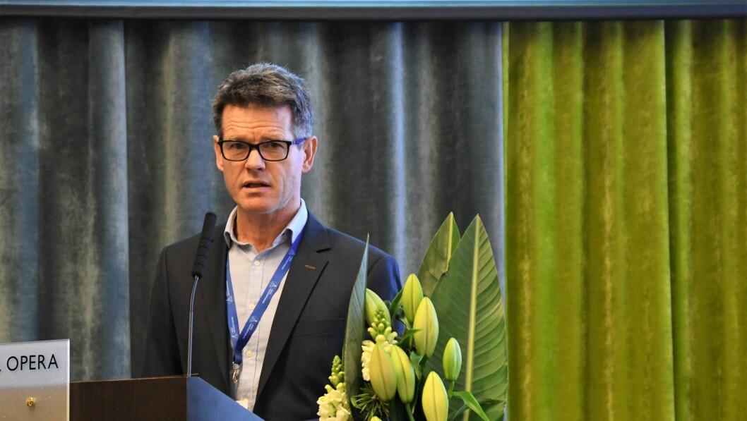 Forbundsleder Bent R. Mikalsen fikk fornyet tillit for tre nye år på NRFs landsmøte i november.