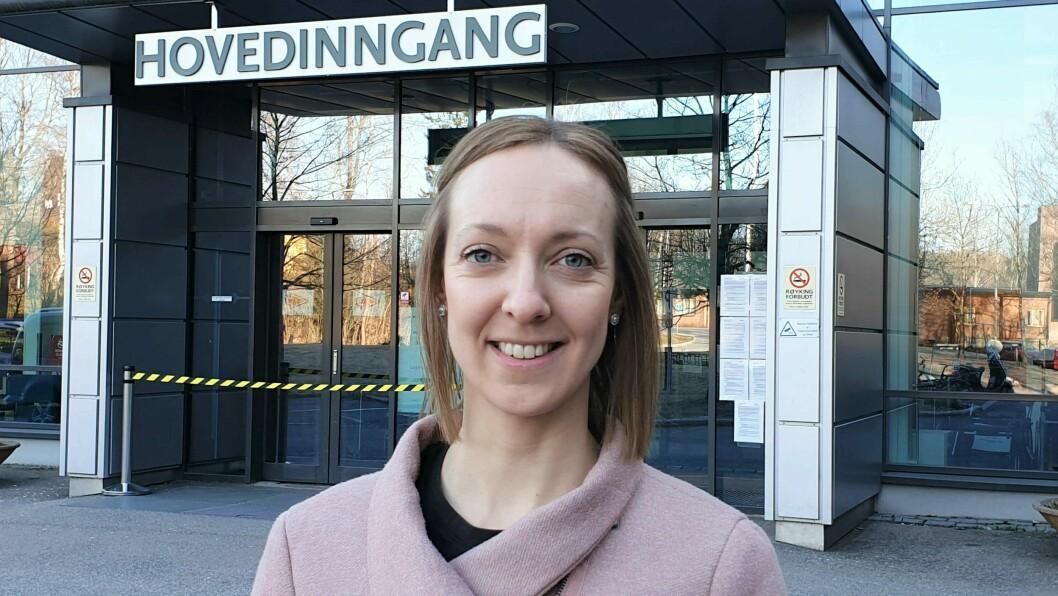 – Vi bruker mye tid på å planlegge med tanke på ulike scenarier, sier Judith Hovda, radiograf og smittevernkontakt ved Avdeling for bildediagnostikk på Bærum sykehus.